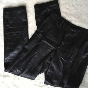 RL Black Label Crocodile Straight Leg Leather Pant